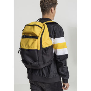 Batoh Urban Classics Backpack Colourblocking chrome yellow/black/black