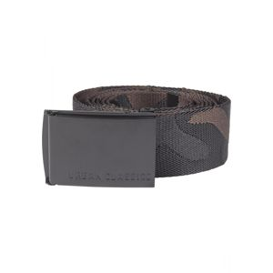 Opasok Urban Classics UC Jaquard Camo Belt 150cm black/brown