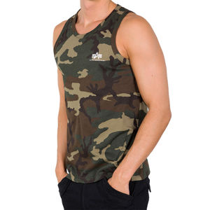 Pánske tielko Alpha Industries Small logo Tank Top Wood Camo Pohlavie: pánske, Size: 3XL