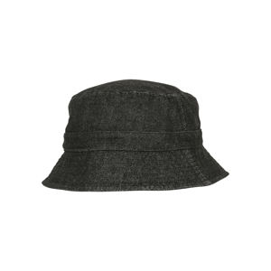 Klobúk Urban Classics Denim Bucket Hat black/grey