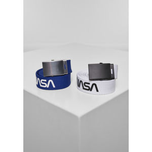 Opasok MR.TEE NASA Belt 2-Pack extra long blue/wht