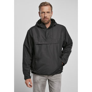 Pánska bunda BRANDIT Fleece Pull Over Windbreaker Farba: black, Grösse: M