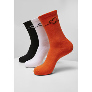 Ponožky MR.TEE Heart Oneline Socks 3-Pack Farba: lightlilac+li.green+li.yellow, Grösse: 39-42