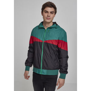 Pánska bunda Urban Classics Advanced Arrow Windrunner black/green/fire red Veľkosť: 2XL, Pohlavie: pánske